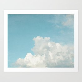 Summer Sky 3 - Fluffy White Clouds and Blue Sky Art Print