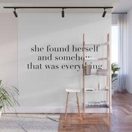 found herself Wall Mural