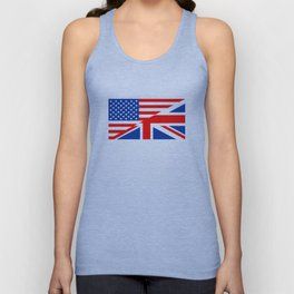 united states of america united kingdom great britain half flag Unisex Tank Top