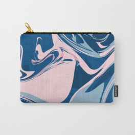 Marble Blue & Pink Carry-All Pouch