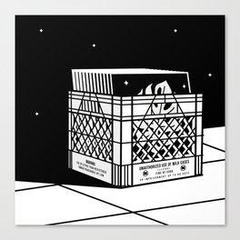 Unauthorized vinyl Canvas Print