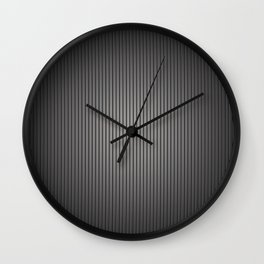 Carbon Stripe Pattern Wall Clock