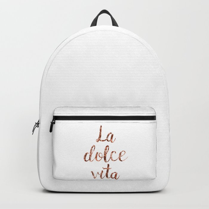 Rose gold La Dolce Vita Backpack