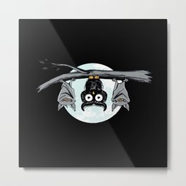 Cute Owl With Friends Metal Print