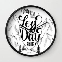Leg Day b&w Wall Clock