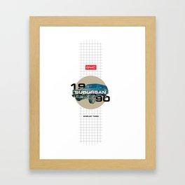 1990 GMC Suburban Framed Art Print