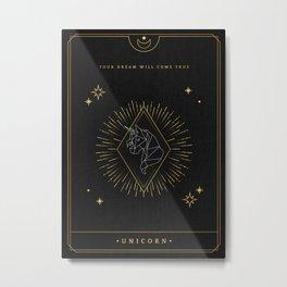 Tarot geometric #1: Unicorn Metal Print