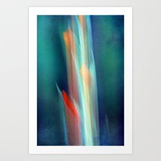 abstract Gladiolus #1 Art Print