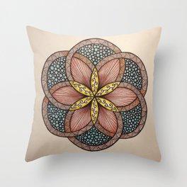Zentangle 5 October 2015 Throw Pillow