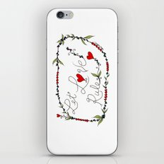 Let Love Rule iPhone & iPod Skin