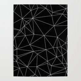 Geometric Black and White Minimalist Pattern Poster