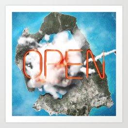 Gate Now Open Art Print