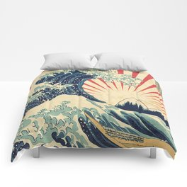 The Great Wave in Rio Comforters
