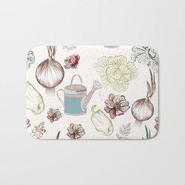 Cozy kitchen garden Bath Mat