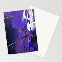 Purple flowers in water 2 Stationery Cards