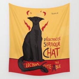 d'Electricité Statique Chat [Staticat] Wall Tapestry