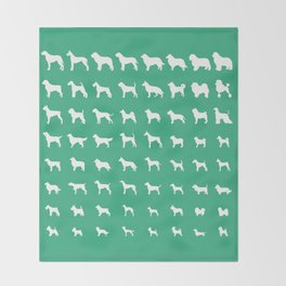 All Dogs (Mint) Throw Blanket