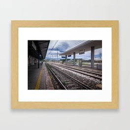 Do Not Cross The Railway Lines Framed Art Print