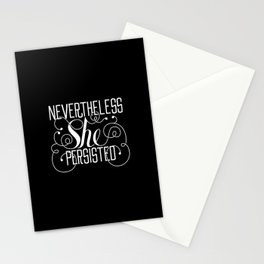 Nevertheless She Persisted // Black + White Stationery Cards