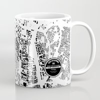 los angeles Mugs featuring LOS ANGELES by Maps Factory