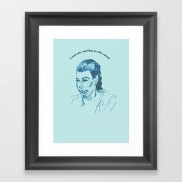 Kim K  Framed Art Print