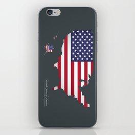 Modern Map - United States of America USA iPhone Skin