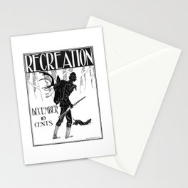 Vintage Hunting Print Recreation Magazine, 1890s, Man Cave Stationery Cards