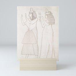 Scribe and priestess of Amon from Histoire de lart egyptien (1878) by Emile Prisse dAvennes Mini Art Print