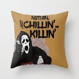 Scream killer Throw Pillow