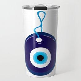 Blue Evil Eye Bead Travel Mug