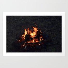 campfire 1 Art Print
