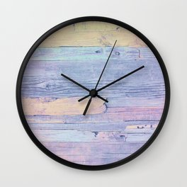Colorful wood Wall Clock