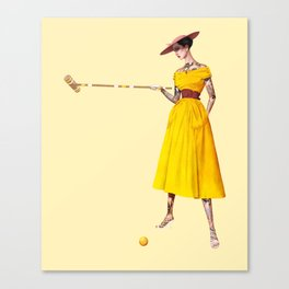 Croquet and Ink Three Canvas Print