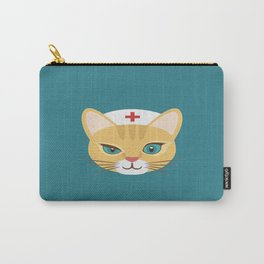 Nurse Cat ~ Teal Carry-All Pouch