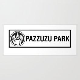 pazzuzu park station sign Art Print