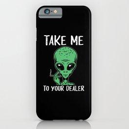 Weed Alien | Cannabis Marihuana 420 Gift iPhone Case