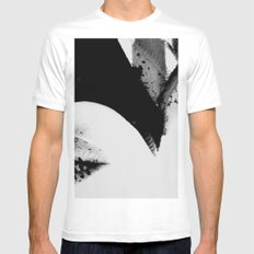 pois on mouth White MEDIUM Mens Fitted Tee