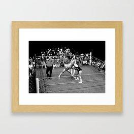 Kevin VonEric vs Frank Star Framed Art Print