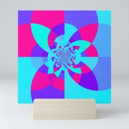 Kaleidoscope Mandala Unicorn Colors Mini Art Print