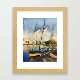Normandy, France: The Port of Caen Framed Art Print