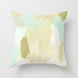 Aqua Islands Throw Pillow