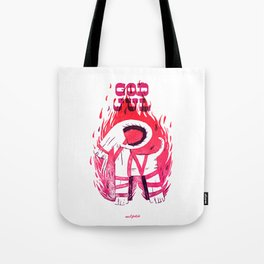 The Burning Goat of Gefle Tote Bag