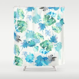 green tropical. collab dylan silva and francisco fonseca Shower Curtain