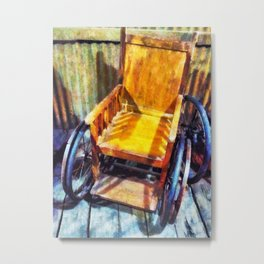 The Old Wheelchair Metal Print