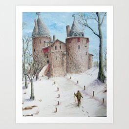 Castell Coch (Red Castle) - Winter Art Print