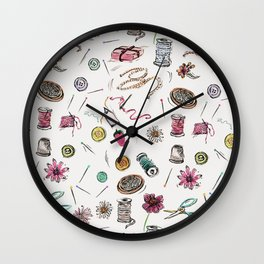 Boo Boo's Mini Sewing Kit Wall Clock