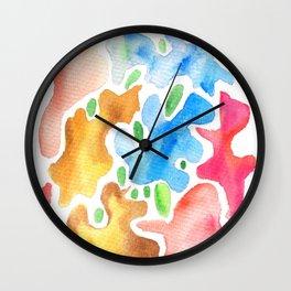 170623 Colour Shapes Watercolor 3 Wall Clock