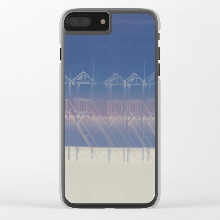 Summer beach Clear iPhone Case