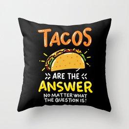 Tacos Lovers Shirt Mexican Burrito  Throw Pillow