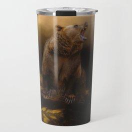 Roaring grizzly bear Travel Mug